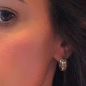 Authentic Coach Buckle Hoop Earrings